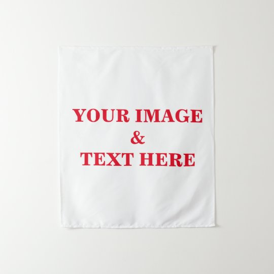 3e94ac3677294 Personalized Custom Your Own Photo & Text Tapestry