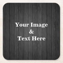 Personalized Custom Your Own Photo Wooden Square Paper Coaster