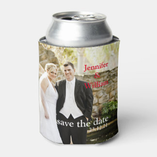 Personalized Custom Your Own Wedding Photo Can Cooler
