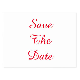 Personalized Custom Your Wedding Save The Date Postcard