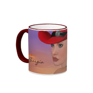 PERSONALIZED (customizable) Cowgirl Coffee Mug