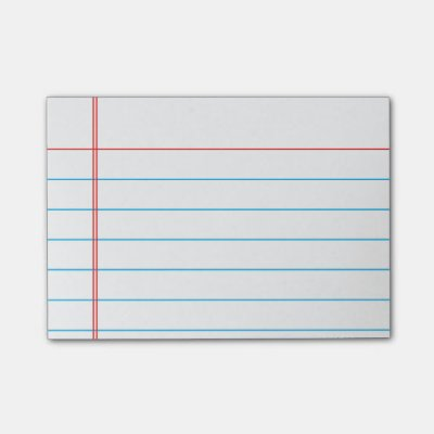 Customizable Lined Notebook Paper Sticky Notes | Zazzle