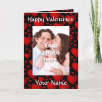 Personalized customizable Valentine's day Holiday Card