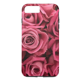 Personalized Customize Pink Roses iPhone 7 Plus Case