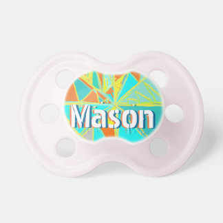 Personalized Cute Abstract Triangle Boy Pacifier