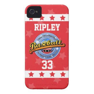 Personalized Cute and Fun Jellyfish Baseball Logo iPhone 4 Case-Mate Case