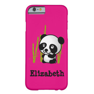 Personalized cute and happy panda bear barely there iPhone 6 case