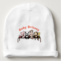 Personalized Cute Animals Baby Beanie Hat
