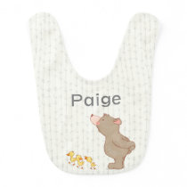 Personalized Cute Baby Name Bib Bear and Duck