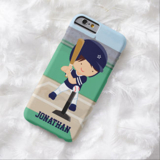 Personalized Cute Baseball cartoon player Barely There iPhone 6 Case