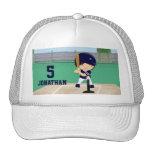 Personalized Cute Baseball cartoon player Trucker Hats