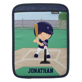 Personalized Cute Baseball cartoon player iPad Sleeves