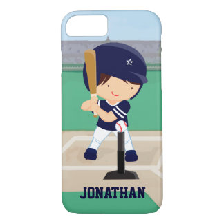 Personalized Cute Baseball cartoon player iPhone 7 Case