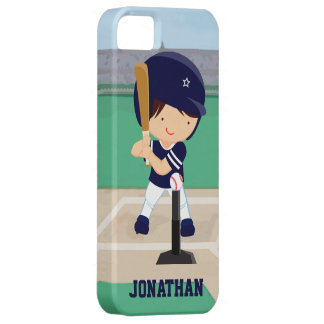 Personalized Cute Baseball cartoon player iPhone SE/5/5s Case