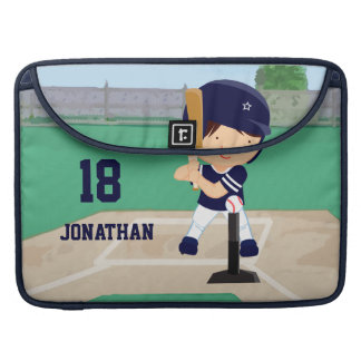 Personalized Cute Baseball cartoon player Sleeves For MacBooks