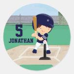 Personalized Cute Baseball cartoon player Stickers