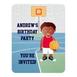 Personalized Cute basketball 4.25x5.5 Paper Invitation Card