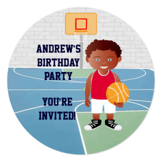 Personalized Cute basketball Custom Invite