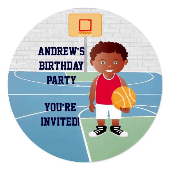 Personalized Cute basketball Invitation