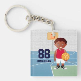 Personalized Cute basketball Keychain