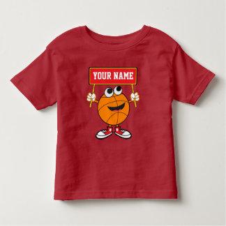 Personalized Cute Basketball Kids Design Tee Shirt