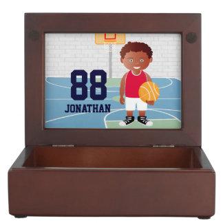 Personalized Cute basketball Memory Box