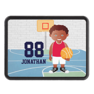 Personalized Cute basketball Trailer Hitch Cover