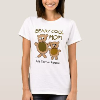 Personalized Cute Bears Cool Mom T-Shirt