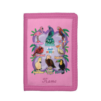 Personalized Cute Birds by Learning Candy Trifold Wallets