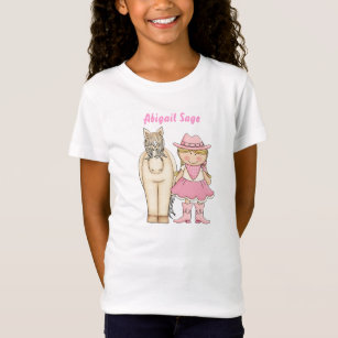 f06d5430e Personalized Cute Blond Cowgirl and Horse Western T-Shirt