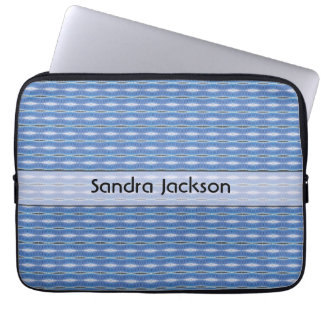 Personalized cute blue pattern computer sleeve