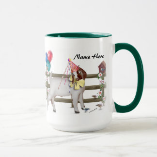 Personalized Cute Boer Goat Birthday Party Mug