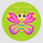 Personalized Cute Butterfly Stickers
