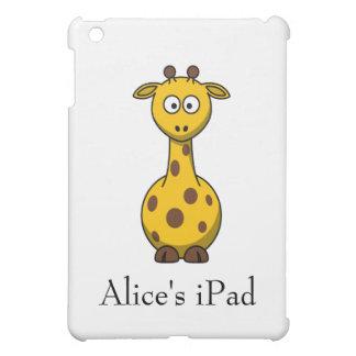 Personalized Cute Cartoon Giraffe  iPad Mini Covers