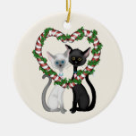 Personalized Cute Cat Couple Christmas Ornament