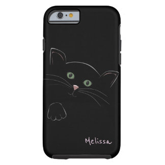 Personalized Cute Cat Face Sketchy Tough iPhone 6 Case