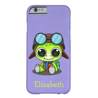 Personalized Cute Chibi Turtle in Aviator Hat Barely There iPhone 6 Case