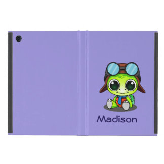 Personalized Cute Chibi Turtle in Aviator Hat iPad Mini Cover