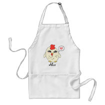 Personalized Cute Chicken Adult Apron