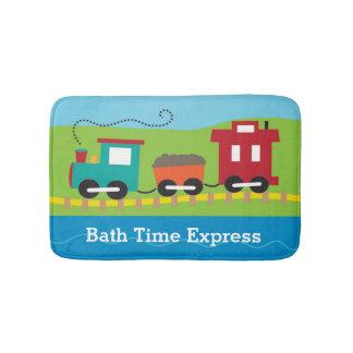 Personalized Cute Choo Choo Train Bath Mats