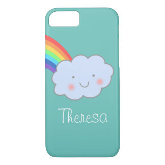 Personalized Cute Cloud and Rainbow iPhone 7 Case