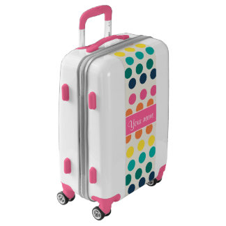 Personalized Cute Colorful Polka Dots Luggage