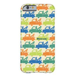 Personalized Cute Colorful Tow Truck iPod Touch Barely There iPhone 6 Case