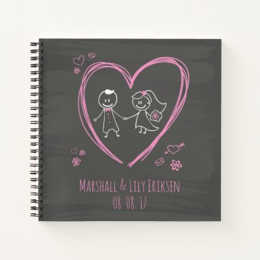 Personalized Cute Couple Wedding | Guestbook Notebook