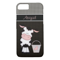 Personalized Cute Cow and Milk Bucket iPhone 8/7 Case