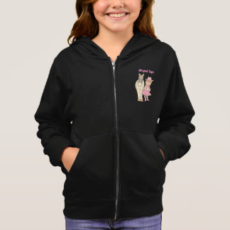 Personalized Cute Cowgirl and Horse Fleece Hoodie
