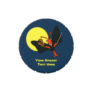 Personalized Cute Crawfish Lobster Vampire Jelly Belly Tins