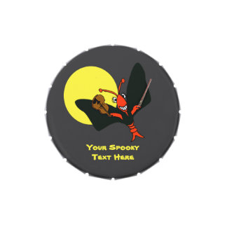 Personalized Cute Crawfish Lobster Vampire Jelly Belly Tin