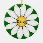 Personalized Cute Daisy Ceramic Ornament