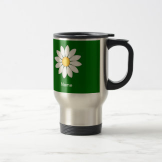 Personalized Cute Daisy 15 Oz Stainless Steel Travel Mug